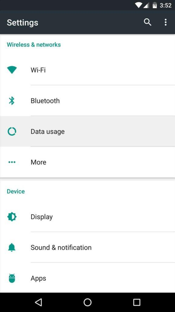 بخش تنظیمات یا setting و بخش Data mobile یا Data usage raveshtech.ir