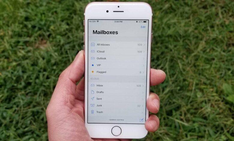 روش افزودن اکانت ایمیل به بخش Mail در نسخه iOS 11 آیفون. raveshtech.ir