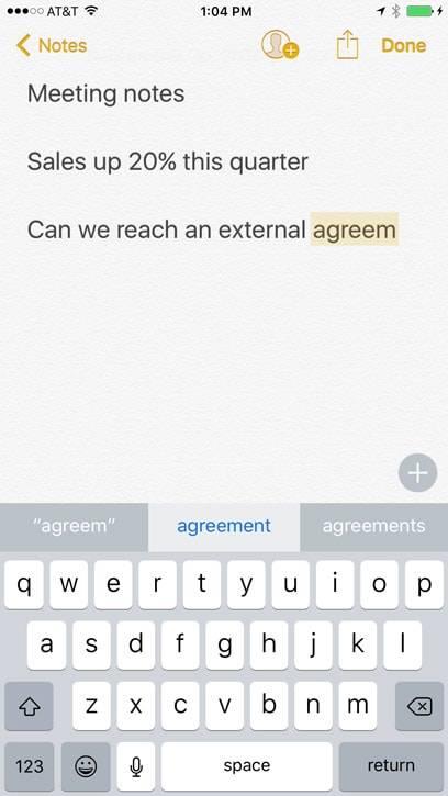 پیشنهاد واژه در کیبورد آیفون | suggestion | روشتک