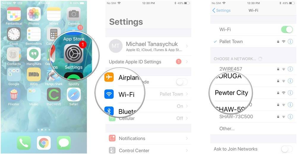 از برگه نخست یا Home screen به بخش Settings و تنظیمات بروید, روی Wi-Fi بتپید, از فهرست شبکه ای را که می خواهید بدان متصل شوید را بتپید, اگر شبکه نیاز به گذرواژ و پسورد داشت، آن را وارد کنید,روشتک,raveshtech
