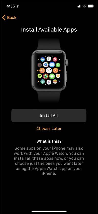 حال می توانید بخش های SoS و Activity را فعال کنید, سپس اپلیکیشن های سازگار با اپل واچ را نصب کنید,روشتک,raveshtech