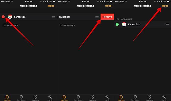 کنار هر یک از اپلیکیشن ها، نشان منفی (-) قرمز رنگیست، اپلیکیشن دلخواه خود را برگزیده و روی (-) بتپید, سپس Remove را بتپید, پس از آن Done را بتپید تا کار شما پایان یابد,روشتک,raveshtech