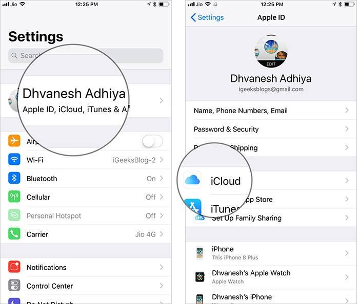 به بخش Settings آیفون یا ایپد خود بروید, بنر Apple ID خود را بتپید, سپس iCloud را بتپید.,روشتک,raveshtech