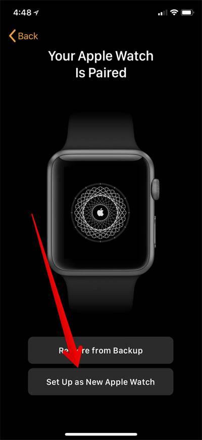 پس از پایان فرایند جفتاندن، دو گزینه Set UP Apple Watch و Restore From Back پیش روی شما خواهد بود. گزینه Set UP Apple Watch را بتپید,روشتک,Raveshtech