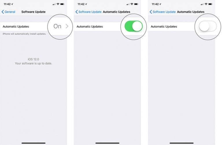 روش غیرفعال نمودن بروزرسانی خودکار iOS 12,روشتک,raveshtech