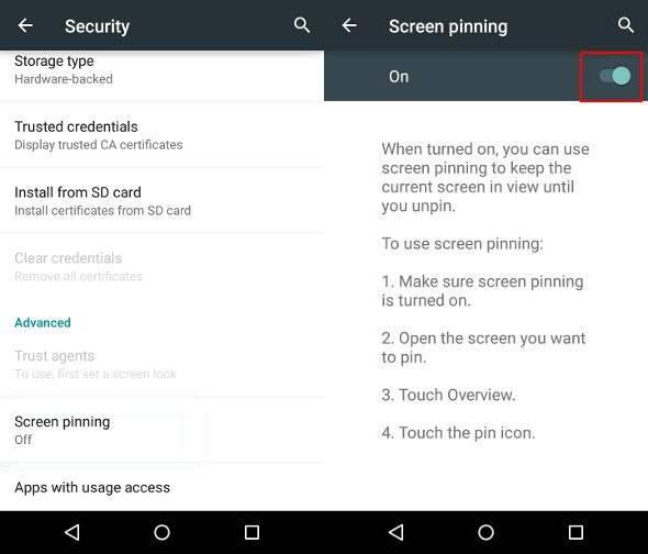 چگونه Screen Pinning دستگاه اندروید خود را فعال کنیم؟,روشتک,raveshtech