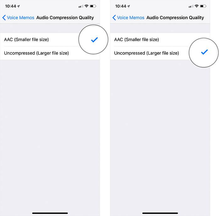 در آیفون یا آیپد خود بخش Settings یا تنظیمات را باز نمائید. رو به پایین اسکرول کرده و Voice Memos را بتپید.,روشتک,Raveshtech, voice memo iOS 12,روشتک,raveshtech