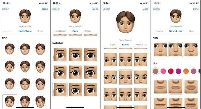 روش ساخت Memoji در آیفون X iOS 12, آیفون memoji, آیفون Animoji, ساخت memoji, ارسال شکلک آیفون, آیفون x, روشتک,raveshtech, ios 12 memoji