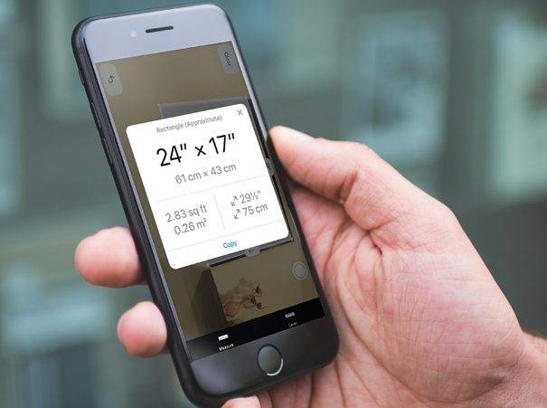 تصویر روش اندازه گیری با ARKit Measure در آیفون iOS 12