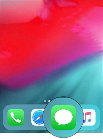 در آیفون X خود بخش پیامک یا Messages را باز کنید,روشتک,raveshtech