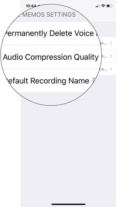 سپس گزینه Audio Compression Quality را بتپید,روشتک,raveshtech