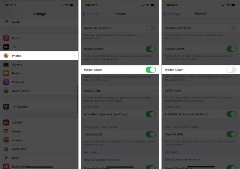 روش پنهان کردن پوشه Hidden در آیفون و آیپد iOS 14 و نسخه های تازه تر