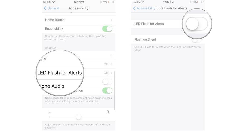 چگونه چراغ اعلان یا Notification LED را در آیفون خود فعال نمائید,مروشتک,raveshtech