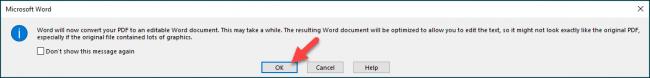 پنجره هشداری باز شده و به شما می گوید که فایل تازه شما، شاید برخی از قالب بندی های PDF خود را از دست بدهد.,روشتک,raveshtech
