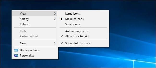 روش تغییر اندازه آیکون ها در دسکتاپ ویندوز,روشتک,raveshtech