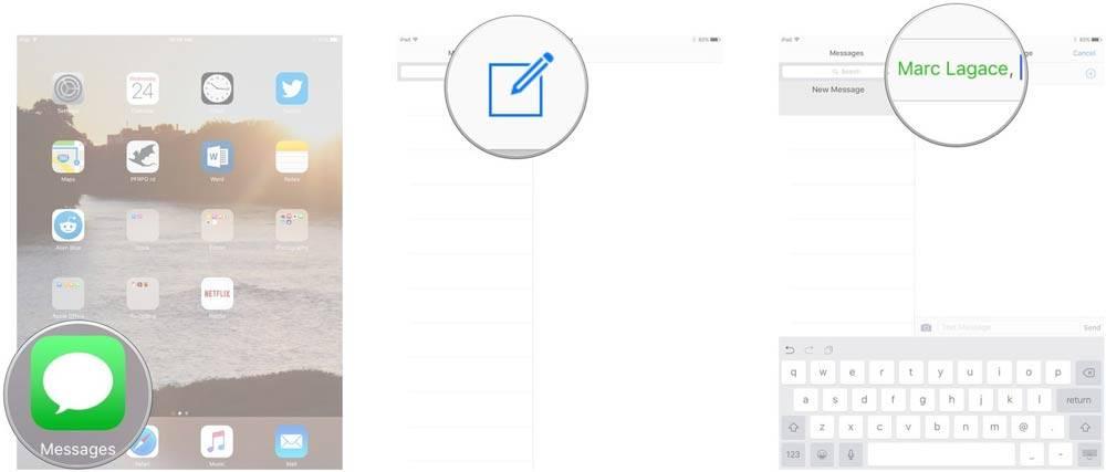 روش ارسال پیامک و SMS/MMS در iPad,روشتک,raveshtech