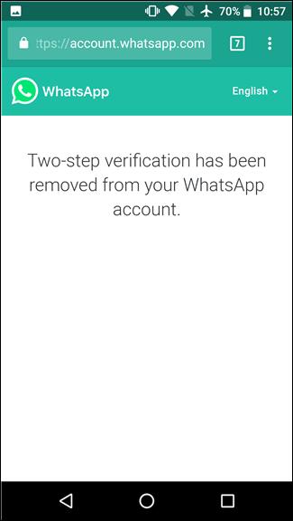پس از انجام تائید شما می توانید وارد اکانت WhatsApp خود شده و مانند همیشه با آن کار کنید.