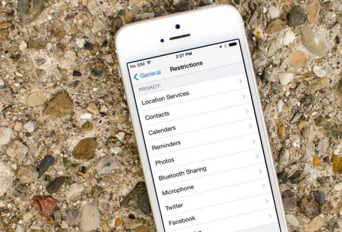 محدود کردن دسترسی برنامه به داده ها در iOS 11,جلوگیری از دسترسی برنامه به داده ها در iOS 11, منع برنامه از دسترسی به اطلاعات گوشی, مسدود سازی دسترسی برنامه به داده های آیفون, محدود سازی دسترسی برنامه در آیفون, محدود سازی دسترسی برنامه ها در ios 11, محدود کردن دسترسی برنامه در آیپد,محدود کردن دسترسی برنامه در آیفون, آیفون restriction,آیپد restriction, روشتک,raveshtech,محدود یازی دستری برنامه