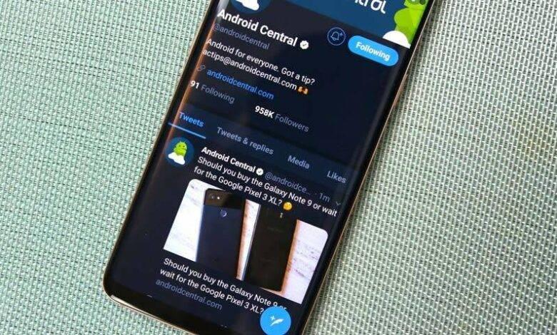 روش فعال سازی dark mode در اپلیکیشن Twitter اندروید, توئیتر dark mode, twitter dark mode, اپلیکیشن توئیتر,فعال کردن dark mode در توئیتر, توئیتر اندروید, روشتک,raveshtech, تم شبانه توئیتر