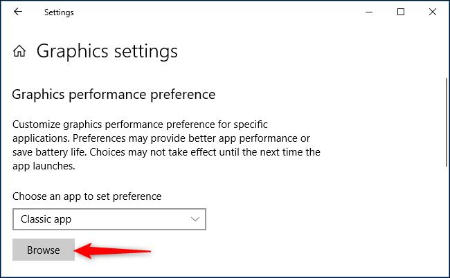 اپلیکیشنی را که می خواهید پیکره بندی کنید، برگزینید, برای بازی و برنامه های کلاسیک که پسوند exe دارند. بهتر است گزینه Classic app را برگزینید, سپس دکمه Browse را زده و فاایل .exe دلخواه را یافته و برگزینید. بیشتر برنامه های ویندوز در پوشه Program Files جای دارند,روشتک,raveshtech