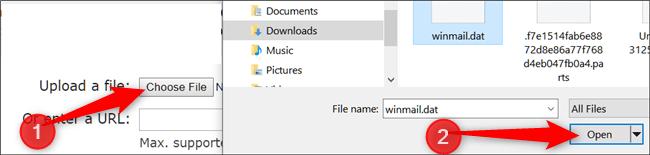 روش باز کردن Winmail.dat در ویندوز,روشتک,raveshtech