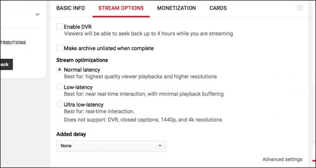 روشپخش زنده بازی و Game در YouTube,پخش زنده بازی و Game در YouTube, روشپخش زنده Game در YouTube,روشپخش زنده Game در YouTube, پخش زنده بازی در یوتیوب, پخش زنده در یوتیوب, نرم افزار OBS, یوتیوب live stream, پخش زنده YouTube, روشتک, raveshtech, پخش زنده Game یوتیوب,پخش زنده گیم یوتیوب,گرفتن Stream Key و پیکره بندی OBS,در زیر بخش Stream Options می توانید موارد زیر را تنظیم کنید: