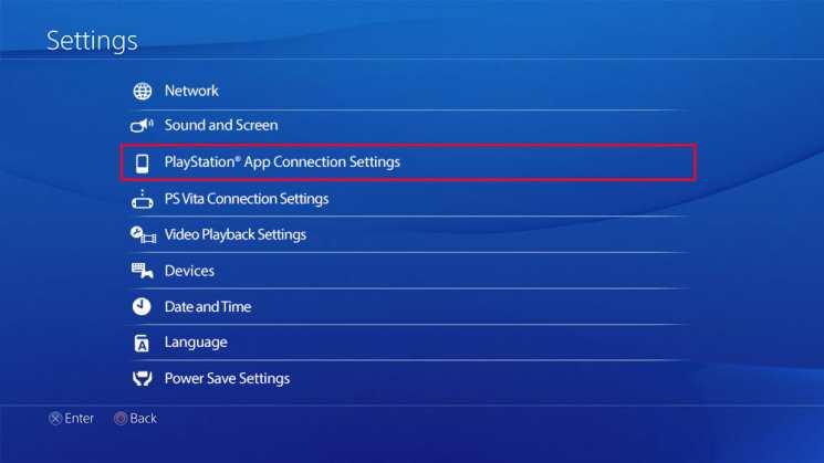 PlayStation App Connection Settings را انتخاب کنید,روشتک,raveshtech