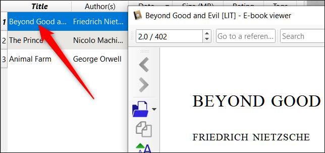پس از انجام گام های بالا، Calibre، نویک شما را به نویستان یا library خود می افزاید. شما می توانید با دوبار کلیک روی عنوان فایل، آن را در برنامه Calibre باز کنید.,روشتک,raveshtech