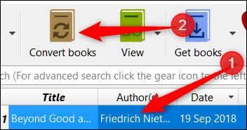 برنامه Calibre را باز کنید. نویک یا کتابی را که می خواهید تبدیل کنید برگزیده و دکمه Converts Books را بزنید.,روشتک,raveshtech