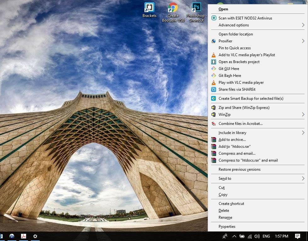 تصویر فعال کردن زیرخط کلیدهای میانبر منو در ویندوز 10