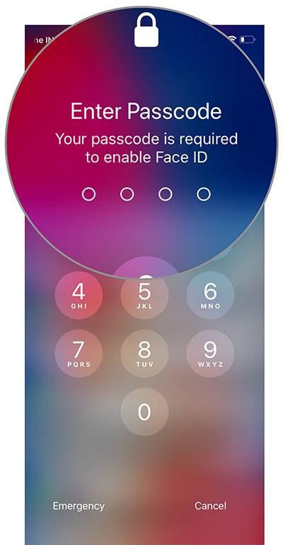 با انجام گام های بالا، Face ID بصورت موقت در آیفون شما خاموش و غیرفعال خواهد شد و برای روشن کردن دوباره آن نیاز به وارد کردن passcode یا گذرکد خواهید داشت,روشتک,raveshtech