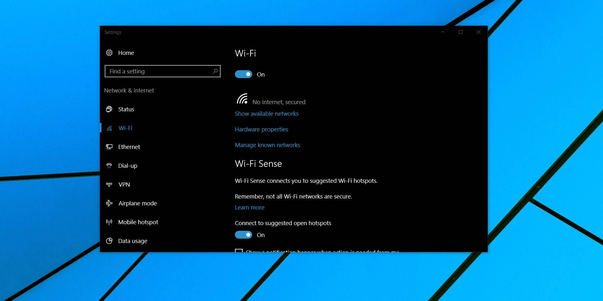 تصویر روش ریست کردن Data Usage در ویندوز 10
