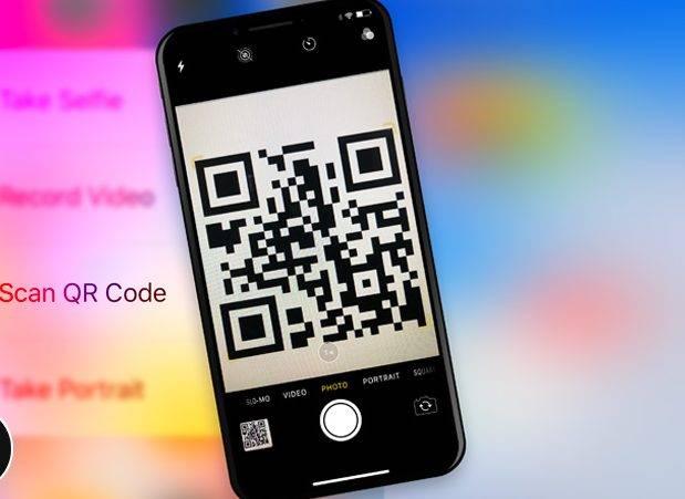 تصویر باز کردن Scan QR Code در آیفون iOS 12