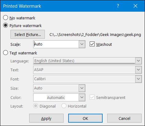 روش استفاده از واترمارک تصویری در برنامه Word,روشتک,raveshtech