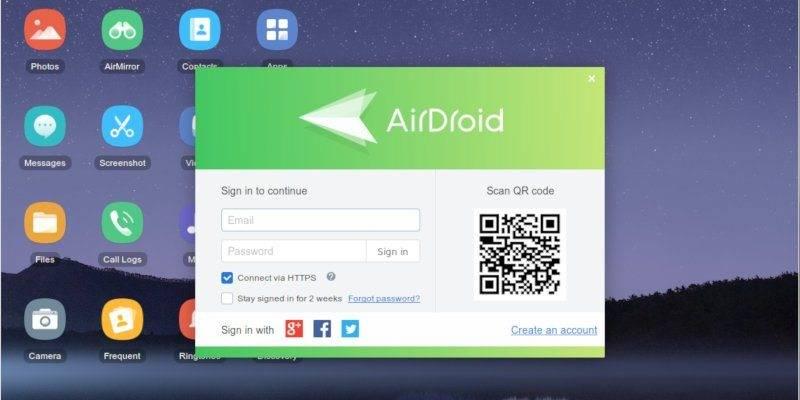 تصویر روش اتصال گوشی اندروید به لینوکس با Airdroid