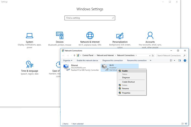 روش روشن کردن وایفای ویندوز 10