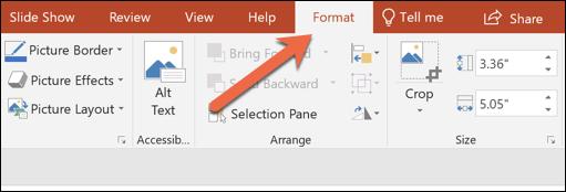 در نوار بالای برنامه، زبانه Format را بکلیکید,روشتک,raveshtech