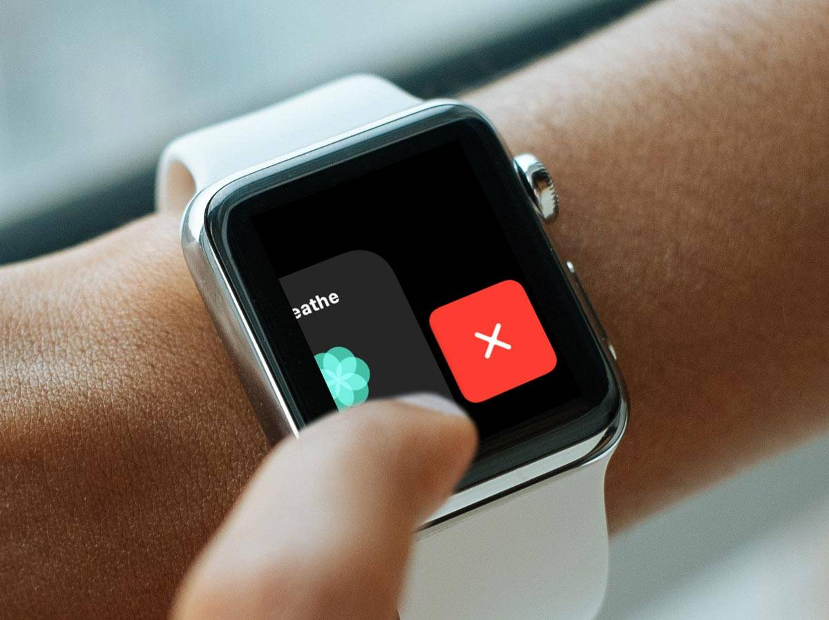 تصویر روش بستن برنامه ها در اپل واچ watchOS 5