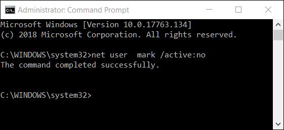 روش غیرفعال کردن اکانت کاربران ویندوز 10 با استفاده از Command Prompt,روشتک,raveshtech