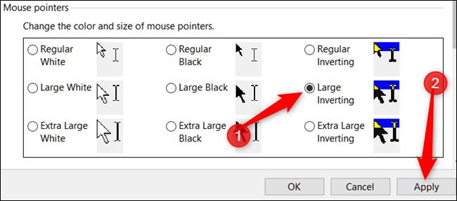 تغییر رنگ و اندازه نشانگرهای موس در ویندوز 10,روشتک,raveshtech