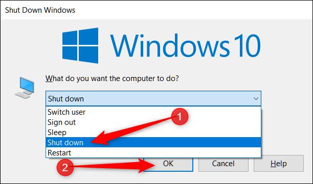 خاموش کردن ویندوز با استفاده از پنجره Shut Down Windows,روشتک,raveshtech