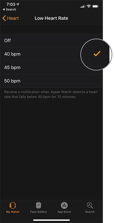 فعال کردن نوتیفیکیشن ضربان قلب پائین در اپل واچ, اعلان ضربان قلب پائین در اپل واچ, اپل واچ ضربان قلب پائین, روشتک,raveshtech, اپل واچ, watchOS 5, ضربان قلب, Low Heart Rate