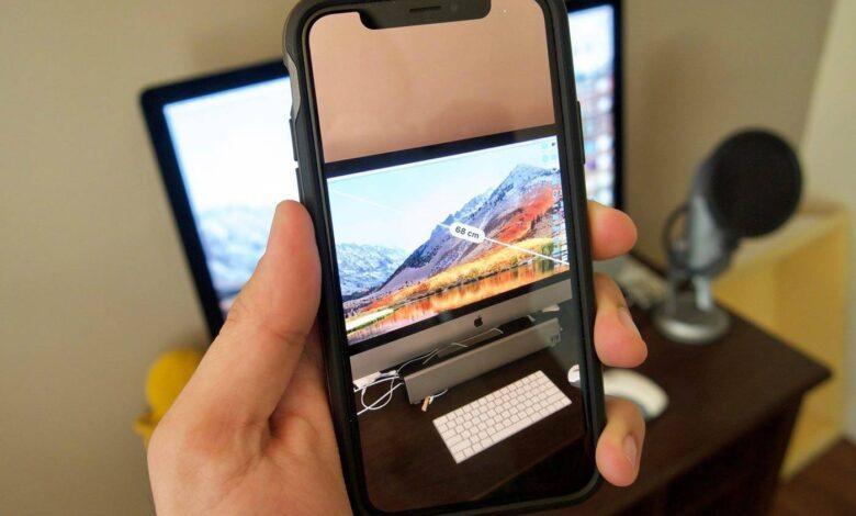 روش استفاده از برنامه Measure در iOS 12,استفاده از برنامه Measure در iOS 12, دانلود برنامه measure, نصب برنامه measure, آیفون Arkit, روشتک,raveshtech, اندازه گیری خطوط با آیفون, اندازه گیری اشیا با آیفون, اندازه گیری با measure, آیفون measure