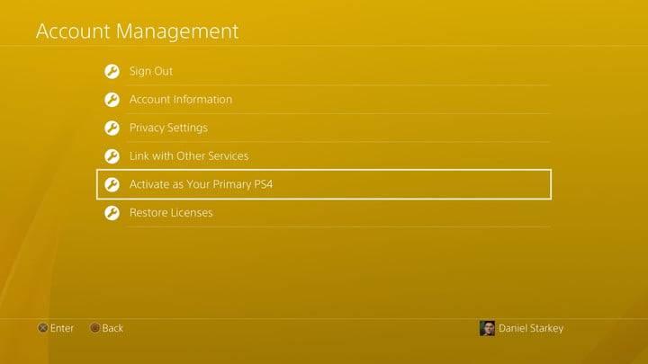 در فهرست پیش روی، گزینه Activate as your primary PS4 را برگزینید,روشتک,raveshtech