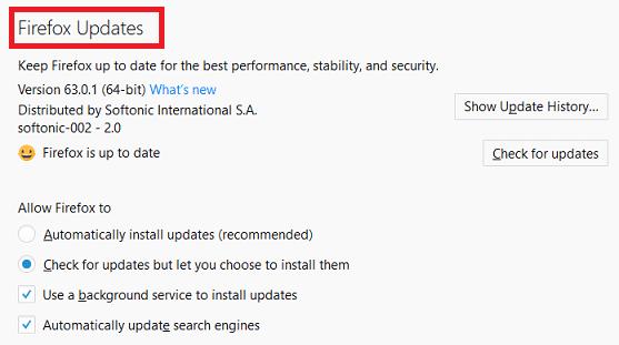 سپس به پائین بخش general پیمایش کرده و گزینه Check for updates but let you choose to install them را برگزینید, روشتک, raveshtech