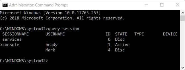 چگونه با استفاده از Command Prompt می توان اکانت های دیگر در ویندوز 10 را sign out کرد؟,روشتک,raveshtech