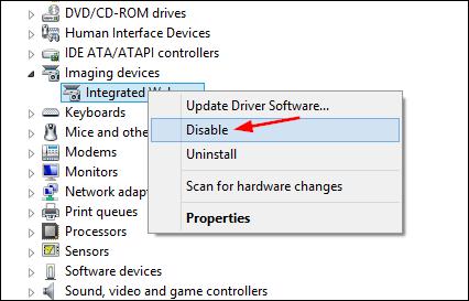چگونه دوربین لپ تاپ، تبلت یا PC خود را از بخش Device Manager ویندوز خاموش یا روشن کنیم؟,روشتک,raveshtech