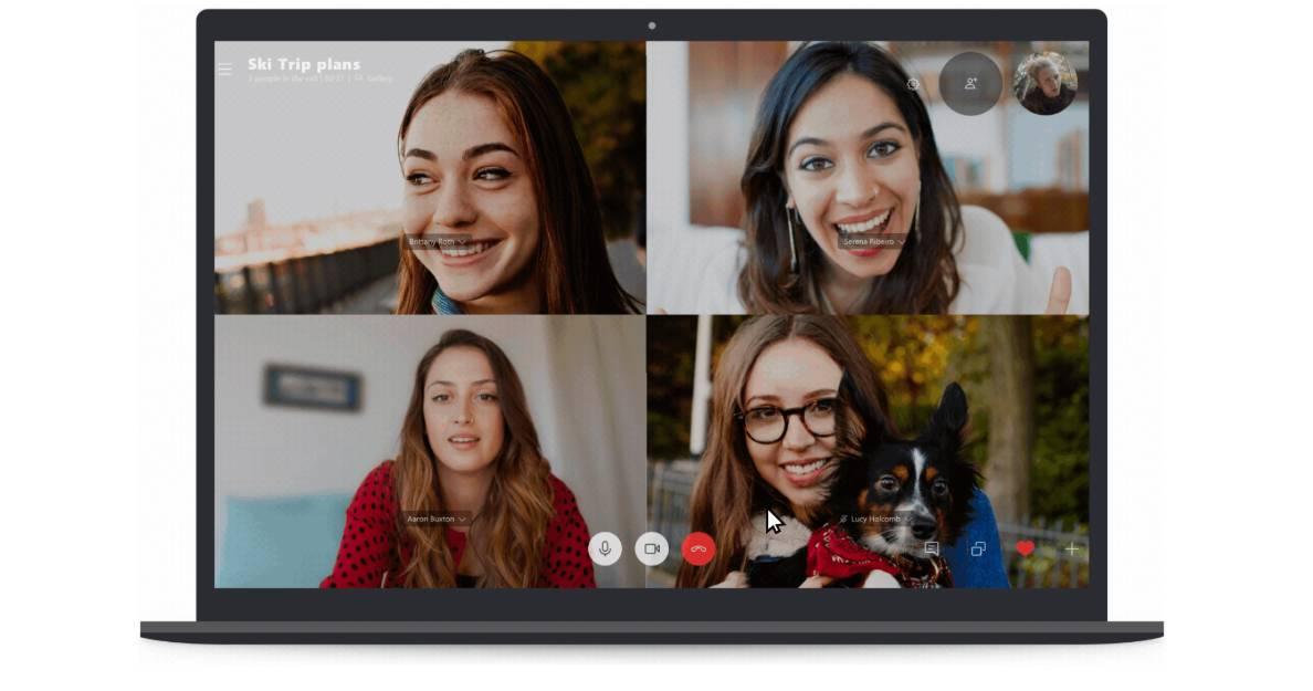 تصویر روش بلوری کردن پس زمینه تماس در Skype