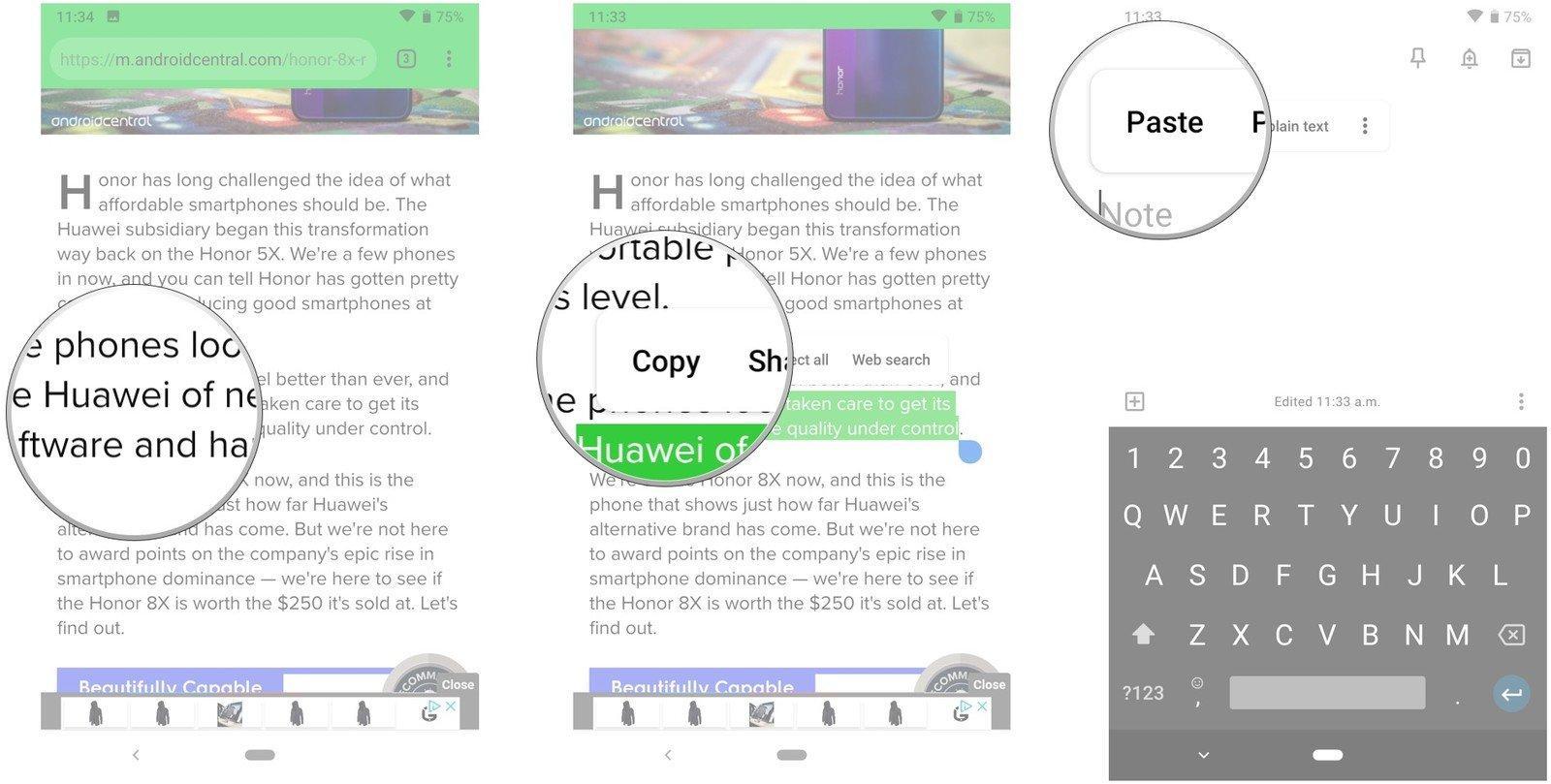 روش استفاده از Copy و Paste در اندروید, استفاده از Copy و Paste در اندروید, کپی پیست کردن متن در گوشی, کپی پیست کردن متن در اندروید, کپی پیست کردن, کپی پیست کردن متن, کپی پیست کردن لینک در اندروید, روش کپی پیست, روشتک,raveshtech, آموزش فناوری, آموزش تکنولوژی, آموزش اندروید