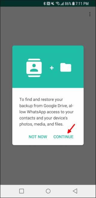 روش ریستور کردن پیام های واتساپ از گوگل درایو در گوشی جدید, روشتک,raveshtech
